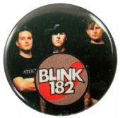 Blink 182 - 'Group Black' Button Badge